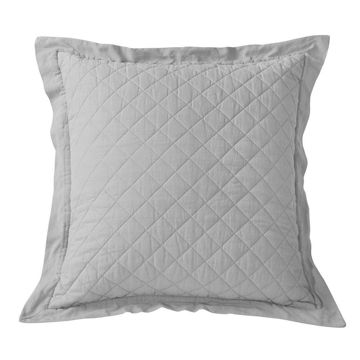 Picture of Diamond Linen Quilted Euro Sham - Gray