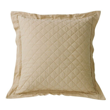 Picture of Diamond Linen Quilted Euro Sham - Tan