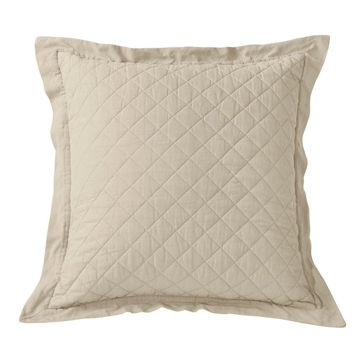 Picture of Diamond Linen Quilt Euro Sham - Tan