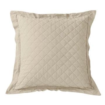 Picture of Diamond Linen Quilt Euro Sham - Tan