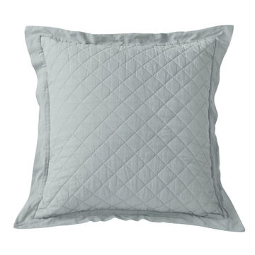 Picture of Diamond Linen Quilt Euro Sham - Seaglass