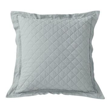 Picture of Diamond Linen Quilt Euro Sham - Seaglass