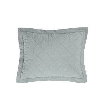Picture of Diamond Linen Quilted Boudoir Pillow - Seaglass