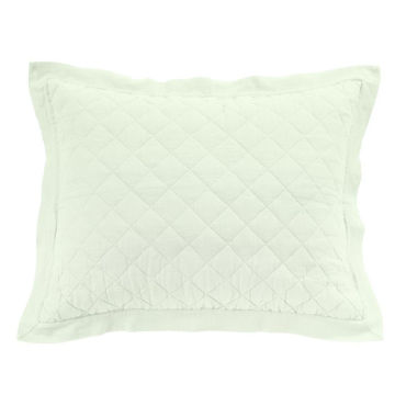 Picture of Diamond Linen Quilted Sham - Seafoam - King