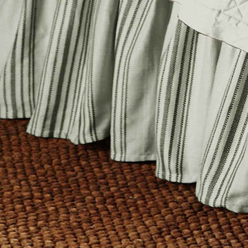 Picture of Prescott Stripe Bedskirt - Taupe - Queen