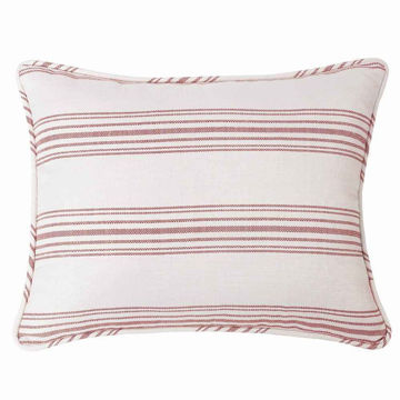 Picture of Prescott Stripe Pillow Sham Pair - Red - King