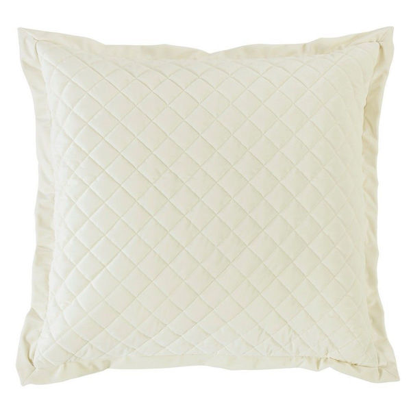 Picture of Velvet Diamond Euro Sham - Cream