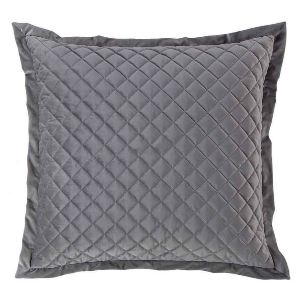 Picture of Velvet Diamond Euro Sham - Gray