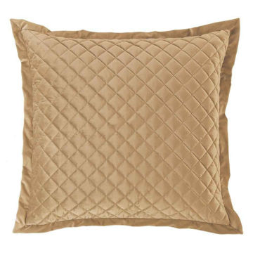Picture of Velvet Diamond Euro Sham - Tan