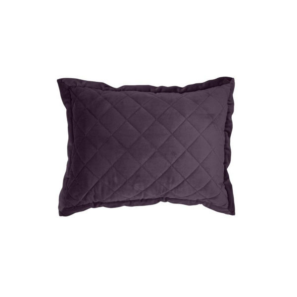Picture of Velvet Diamond Quilted Boudoir Pillow - Amethyst