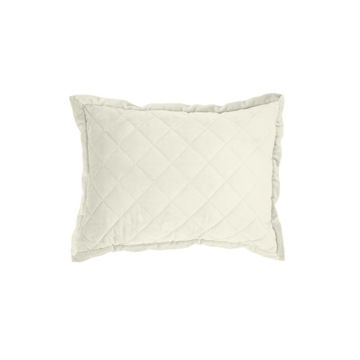 Picture of Velvet Diamond Quilted Boudoir Pillow - Cream