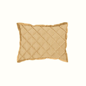 Picture of Velvet Diamond Quilted Boudoir Pillow - Gold