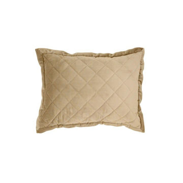 Picture of Velvet Diamond Quilted Boudoir Pillow - Oatmeal