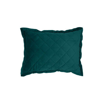 Picture of Velvet Diamond Quilted Boudoir Pillow - Teal