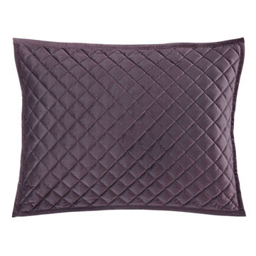 Picture of Velvet Diamond Quilted Sham - Pair - Amethyst - Ki