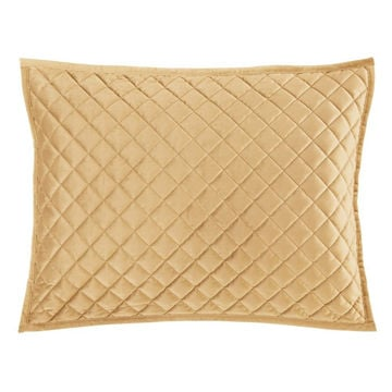 Picture of Velvet Diamond Quilted Sham - Pair - Gold - King