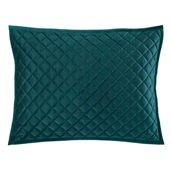 Picture of Velvet Diamond Quilted Sham - Pair - Teal - King