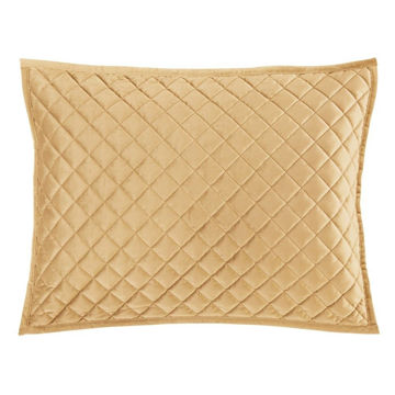 Picture of Velvet Diamond Quilted Sham - Pair - Gold - Standa