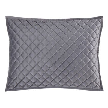Picture of Velvet Diamond Quilted Sham - Pair - Gray - Standa