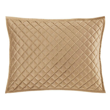 Picture of Velvet Diamond Quilted Sham - Pair - Tan - Standar