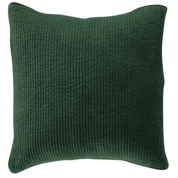 Picture of Stonewashed Cotton Quilted Velvet Euro Sham - Emer