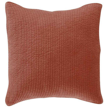 Picture of Stonewashed Cotton Quilted Velvet Euro Sham - Salm