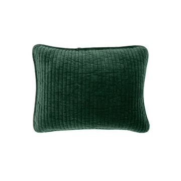 Picture of Stonewashed Cotton Velvet Boudoir Pillow - Emerald