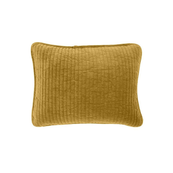 Picture of Stonewashed Cotton Velvet Boudoir Pillow - Tuscan