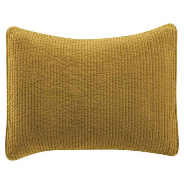 Picture of Stonewashed Cotton Velvet Quilted Stardard Sham -