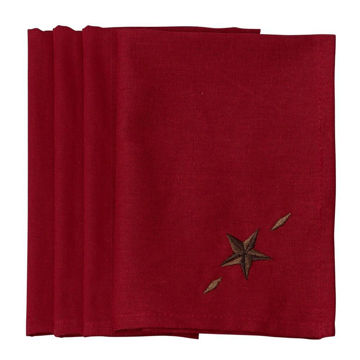 Picture of Star Napkin - Set of 4 - Red