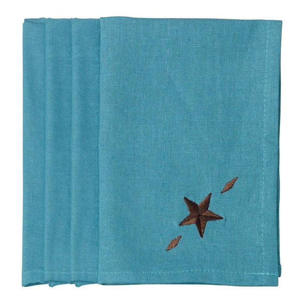 Picture of Star Napkin - Set of 4 - Turquoise