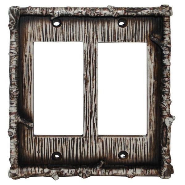 Picture of Birch Twig Double Rocker Plate