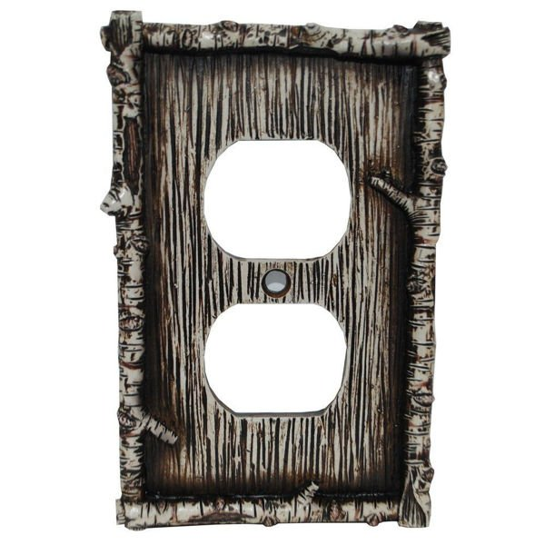 Picture of Birch Twig Single Outlet Cover