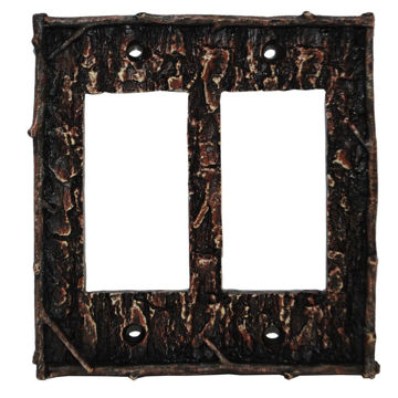 Picture of Pine Bark Double Rocker Plate