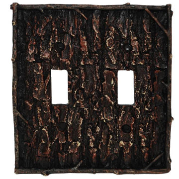 Picture of Pine Bark Double Switch Plate