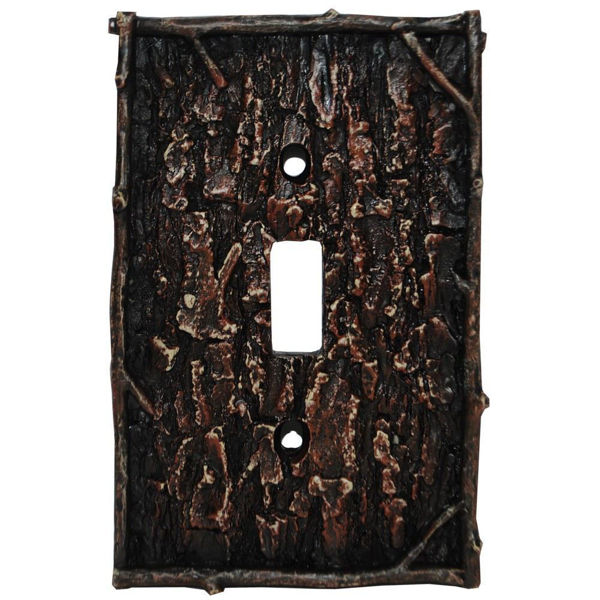 Picture of Pine Bark Single Switch