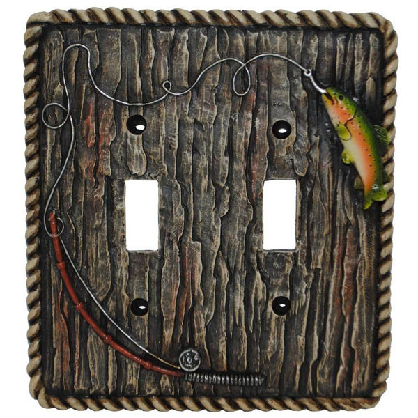 Picture of Trout Double Switch Plate