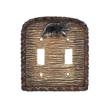 Picture of Bear Double Switch Plate