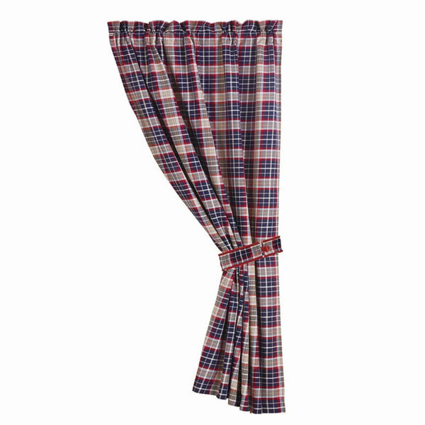 Picture of Blue Plaid Curtain