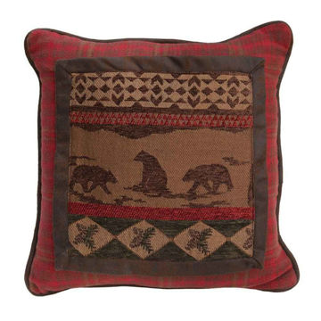 Picture of Cascade Lodge Bear Square Pillow