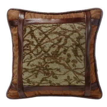 Picture of Highland Lodge Framed Tree Pillow