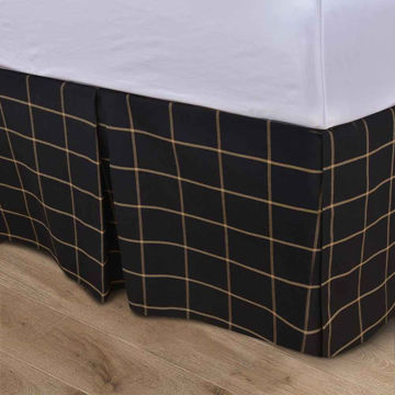 Picture of Ashbury Windowpane Tailored Bedskirt - King