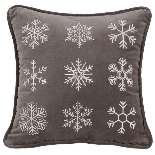 Picture of Whistler Square Snowflake Pillow