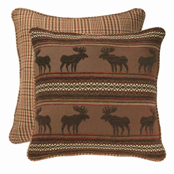 Picture of Bayfield Reversible Moose and Houndstooth Euro Sham