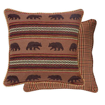 Picture of Bayfield Bear and Houndstooth Euro Sham