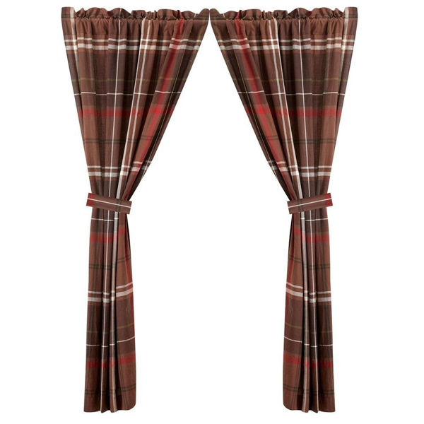 Picture of Jackson Plaid Curtains - Pair