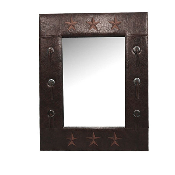 Picture of Star Faux Leather Mirror