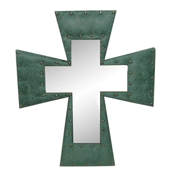 Picture of Cross Mirror - Turquoise