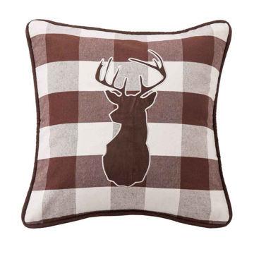 Picture of Huntsman Deer on Buffalo Linen Fabric Pillow