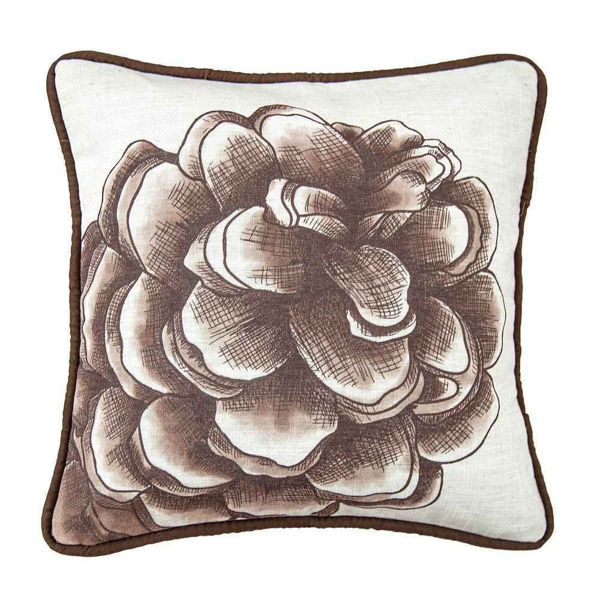 Picture of Pinecone Water Print Pillow
